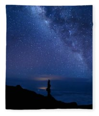 Pointing To The Heavens Fleece Blanket