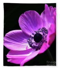 Poised Pink Poppy  Fleece Blanket