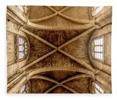 Poissy, France - Ceiling, Notre-dame De Poissy Fleece Blanket