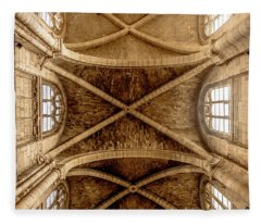 Poissy, France - Ceiling, Notre-dame De Poissy Fleece Blanket