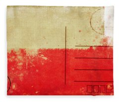 Poland Flag Postcard Fleece Blanket