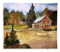 Polebridge Mt Cabin Fleece Blanket
