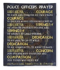 Police Officers Prayer Fleece Blanket