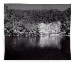 Polk County Reflection In Black And White Fleece Blanket