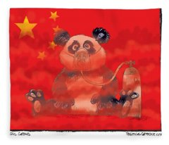 Pollution In China Fleece Blanket