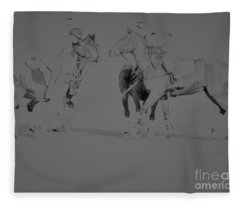 Polo Ponies Fleece Blanket
