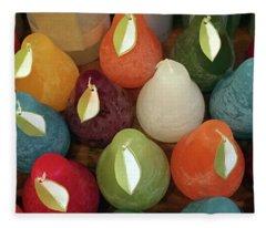 Polychromatic Pears Fleece Blanket