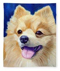 Pomeranian Fleece Blankets