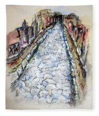 Pompeii Road Fleece Blanket