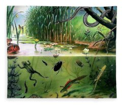 Pond Life Fleece Blanket