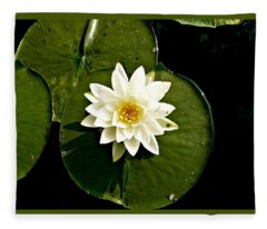 Pond Lily Fleece Blanket