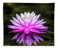 Pond Water Lily Fleece Blanket