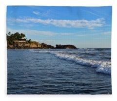 Poneloya Beach Before Sunset Fleece Blanket