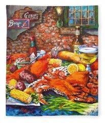 Pontchartrain Crabs Fleece Blanket