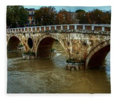 Ponte Sisto Bridge Rome Fleece Blanket