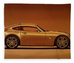 Pontiac Solstice Coupe 2009 Painting Fleece Blanket