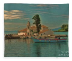 Pontikonisi Corfu Fleece Blanket