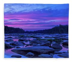 Pony Pasture Sunset Fleece Blanket