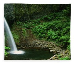 Ponytail Falls-h Fleece Blanket