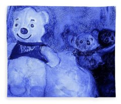 Pooh Bear And Friends Fleece Blanket