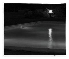 Pool At Night 2 Fleece Blanket