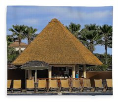 Poolside Drinks Fleece Blanket