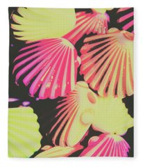 Pop Art From Fluorescent Beach Fleece Blanket