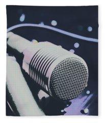 Pop Art Performance In Disco Blues Fleece Blanket