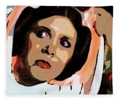 Pop Art Princess Leia Organa Fleece Blanket