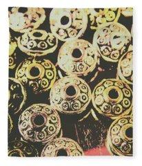 Pop Art Space Invaders Fleece Blanket