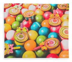 Pop Art Sweets Fleece Blanket