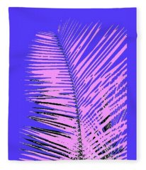Pop Palm Fleece Blanket