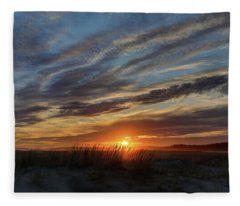 Popham Sunset Fleece Blanket