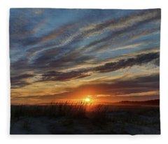 Popham Sunset Fleece Blanket