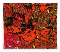 Poppies #1 Fleece Blanket