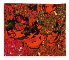 Poppies #1 Fleece Blanket