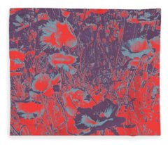 Poppies #4 Fleece Blanket