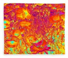 Poppies #6 Fleece Blanket