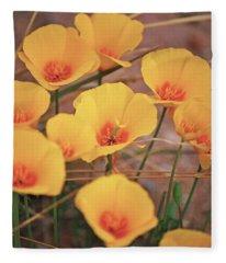 Poppies On Mount Lemmon Fleece Blanket