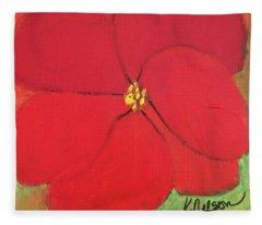 Poppy 2 Fleece Blanket