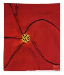 Poppy Dots Fleece Blanket