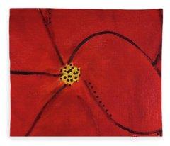 Poppy Dots Fleece Blanket