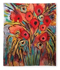 Poppy Fest Fleece Blanket