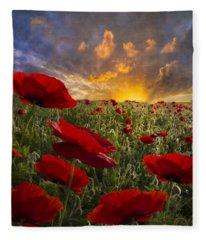 Poppy Field Fleece Blanket