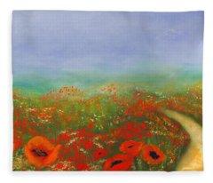 Poppy Field Impressions Fleece Blanket