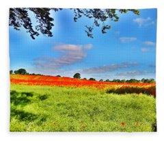 Poppy Field Fleece Blanket