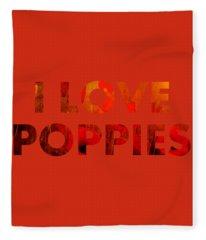 Poppy Heaven Fleece Blanket