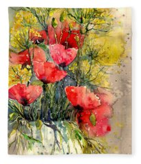 Poppy Impression Fleece Blanket