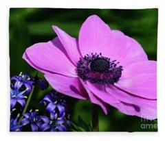 Poppy In Pink Fleece Blanket