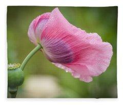 Poppy In The Wind Fleece Blanket